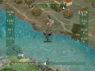 Nuclear Strike 64 (Germany) In game screenshot