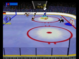 Olympic Hockey Nagano '98 (Europe) (En,Fr,De,Es) In game screenshot
