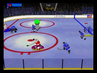 Olympic Hockey Nagano '98 (Japan) In game screenshot