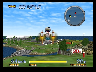 Pilotwings 64 (Japan) In game screenshot
