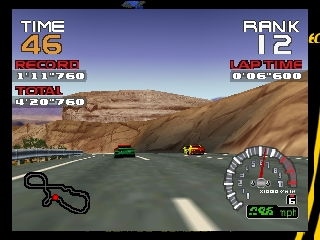 RR64 - Ridge Racer 64 (USA) In game screenshot