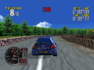 Rally Challenge 2000 (USA) In game screenshot