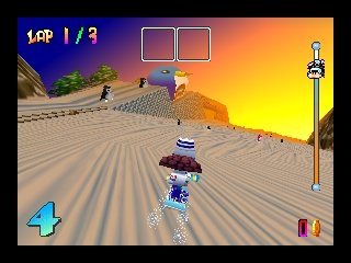 Snowboard Kids (USA) In game screenshot