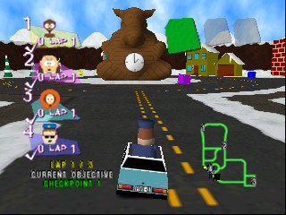 South Park Rally (Europe) In game screenshot
