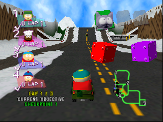 South Park Rally (USA) In game screenshot