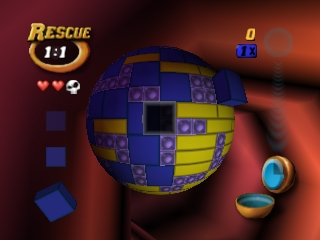 Tetrisphere (Europe) In game screenshot