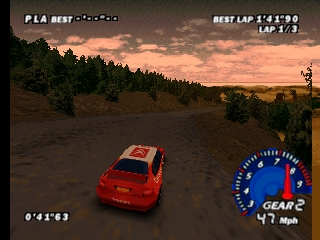 V-Rally Edition 99 (USA) In game screenshot