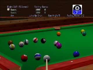 Virtual Pool 64 (Europe) In game screenshot