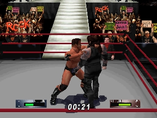 WWF WrestleMania 2000 (Japan) In game screenshot