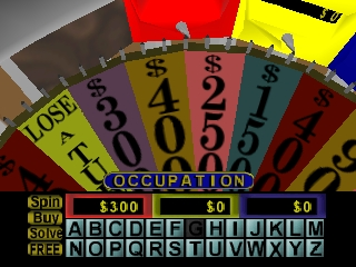 Wheel of Fortune (USA) In game screenshot