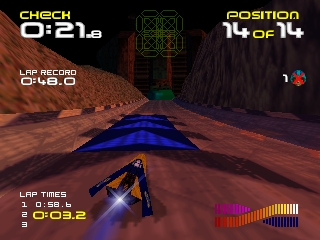 Wipeout 64 (Europe) In game screenshot