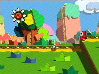 Yoshi Story (Japan) In game screenshot