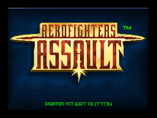 AeroFighters Assault (Europe) (En,Fr,De) Title Screen