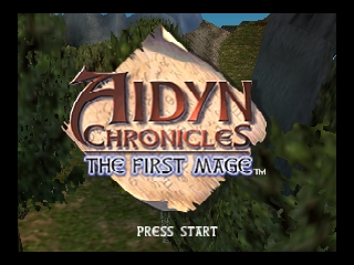 Aidyn Chronicles - The First Mage (USA) Title Screen