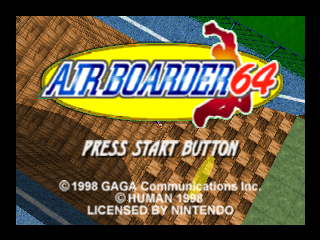 Air Boarder 64 (Europe) Title Screen