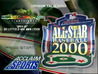 All-Star Baseball 2000 (USA) Title Screen