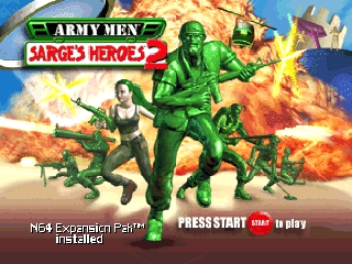 Army Men - Sarge's Heroes 2 (USA) Title Screen