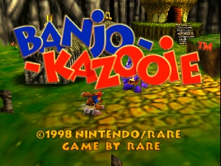 Banjo-Kazooie (Europe) (En,Fr,De) Title Screen