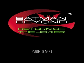 Batman Beyond - Return of the Joker (USA) Title Screen