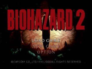 Biohazard 2 (Japan) Title Screen