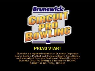 Brunswick Circuit Pro Bowling (USA) Title Screen