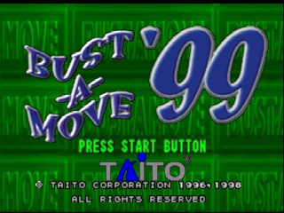 Bust-A-Move '99 (USA) Title Screen