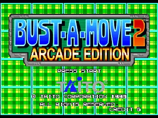 Bust-A-Move 2 - Arcade Edition (USA) Title Screen