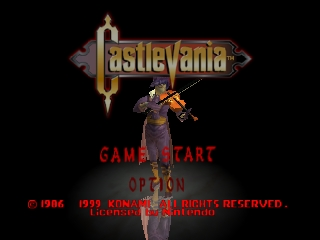 Castlevania (Europe) (En,Fr,De) Title Screen