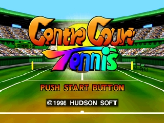 Centre Court Tennis (Europe) Title Screen