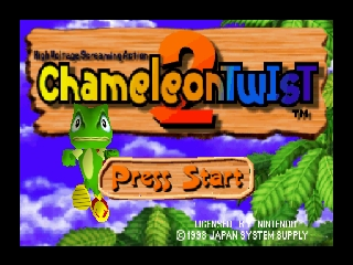 Chameleon Twist 2 (Europe) Title Screen