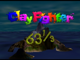 Clay Fighter 63 1-3 (Europe) Title Screen