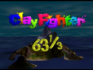 Clay Fighter 63 1-3 (USA) Title Screen