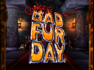 Conker's Bad Fur Day (USA) Title Screen