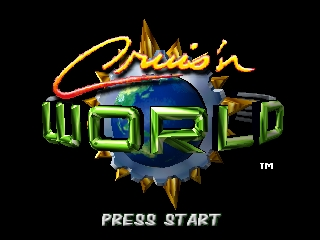 Cruis'n World (Europe) Title Screen