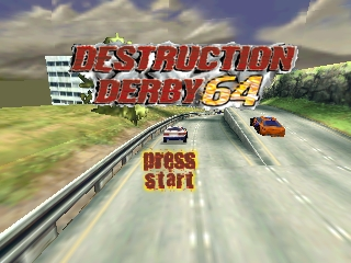 Destruction Derby 64 (USA) Title Screen