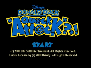 Donald Duck - Quack Attack (Europe) (En,Fr,De,Es,It) Title Screen