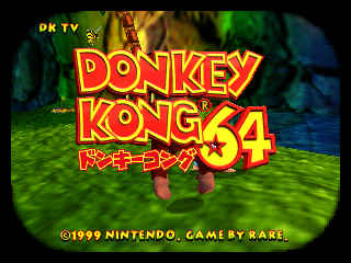 Donkey Kong 64 (Japan) Title Screen