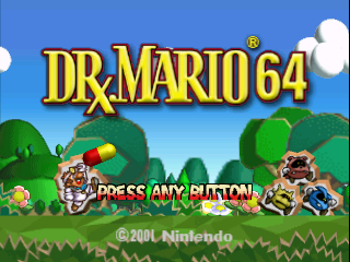 Dr. Mario 64 (USA) Title Screen