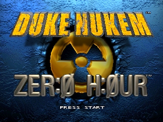 Duke Nukem - Zero Hour (USA) Title Screen