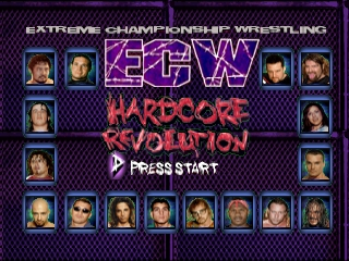 ECW Hardcore Revolution (USA) Title Screen