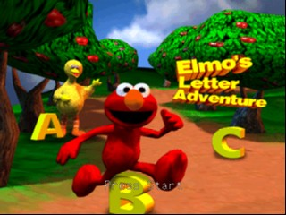 Elmo's Letter Adventure (USA) Title Screen