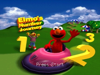 Elmo's Number Journey (USA) Title Screen