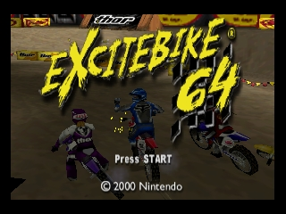 Excitebike 64 (Europe) Title Screen