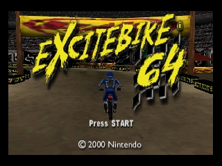 Excitebike 64 (USA) Title Screen