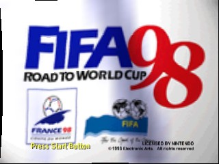 FIFA - Road to World Cup 98 - World Cup heno Michi (Japan) Title Screen
