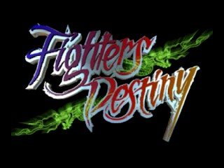 Fighters Destiny (USA) Title Screen