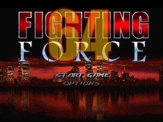 Fighting Force 64 (Europe) Title Screen