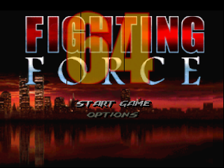 Fighting Force 64 (USA) Title Screen