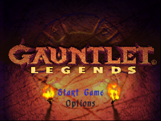 Gauntlet Legends (Europe) Title Screen