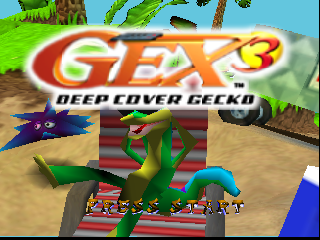 Gex 3 - Deep Cover Gecko (Europe) (En,Es,It) Title Screen